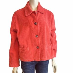 MIKE & TOD Vintage Coral Terry Silk Jacket XL
